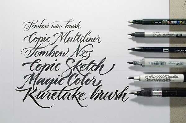 Workshop Brush pen Letters on Behance