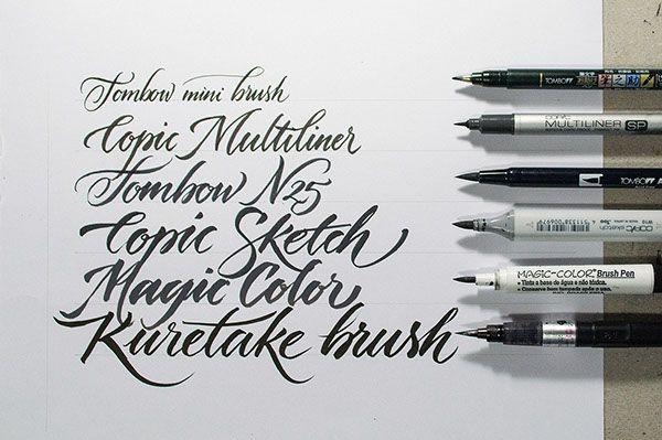 pinterest.com/fra411 #calligraphic - Workshop Brush pen Letters by Jackson Alves, via Behance