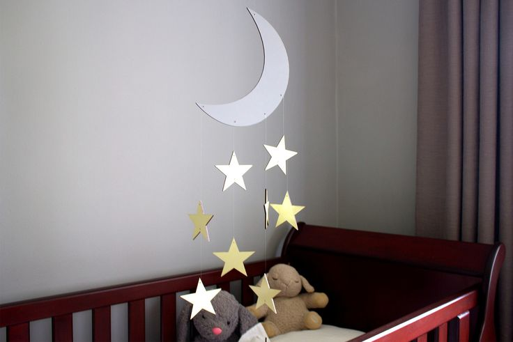 Our Wooden Moon and Stars Mobile will keep your baby's room looking magical! R499.00 https://www.oheka.co.za/products/wooden-moon-and-stars-mobile