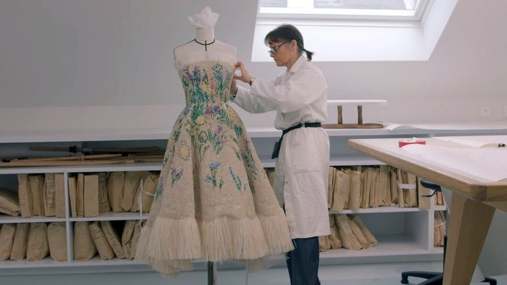 THE HOUSE OF DIOR AT NGV making Essence d'Herbier in Dior Atelier