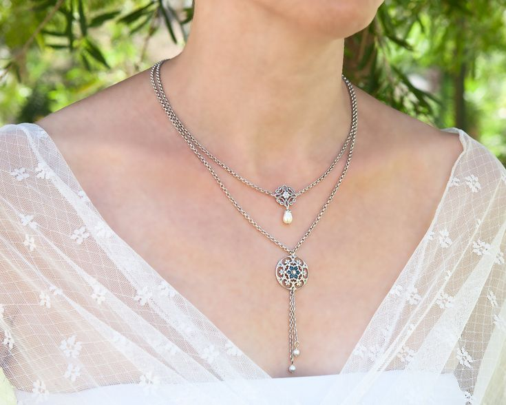 how to layer necklaces silver