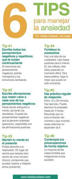 6 Tips para manejar la ansiedad