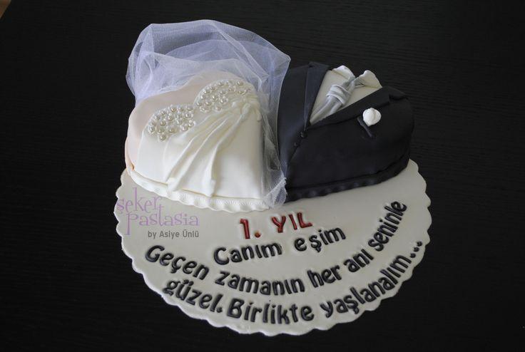 Fethiye ♥ Eşi 1. Yıldönümü Pasta