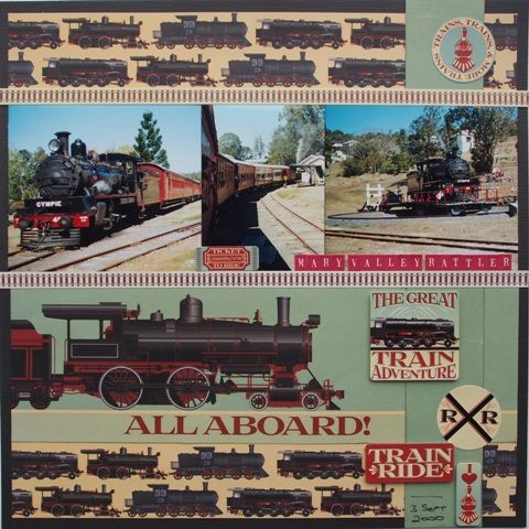 All Aboard Page created with Reminisce, Signature Series by Leonie for My Scrappin' Shop.