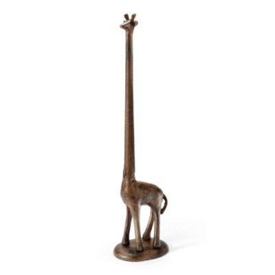 Giraffe Paper Holder. Holds 2 rolls of toilet paper. Good for a bathroom with a pedestal sink.