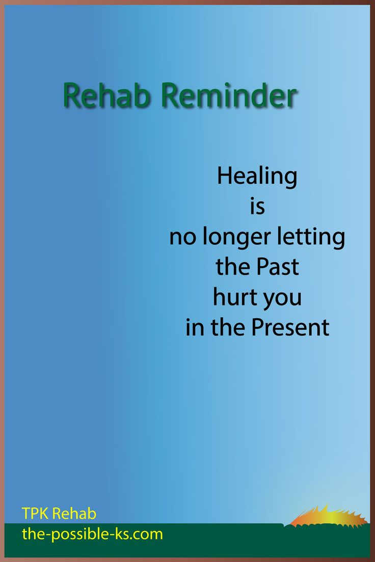 Lots of people stop their healing from happening. TPK Rehab, part of Kevin Alan McGill The Possible Ks