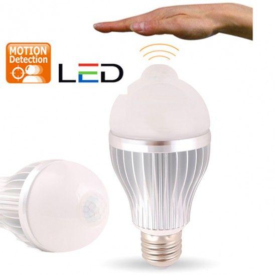 LED SMART Light Bulb - #Infrared Motion Sensor Warm White Light #Bulb http://www.shareasale.com/r.cfm?u=740068&b=212921&m=25790&afftrack=&urllink=http://www.gearxs.com/5-watt-motion-sensor-led-globe-light-bulb Price: $12.99 FS