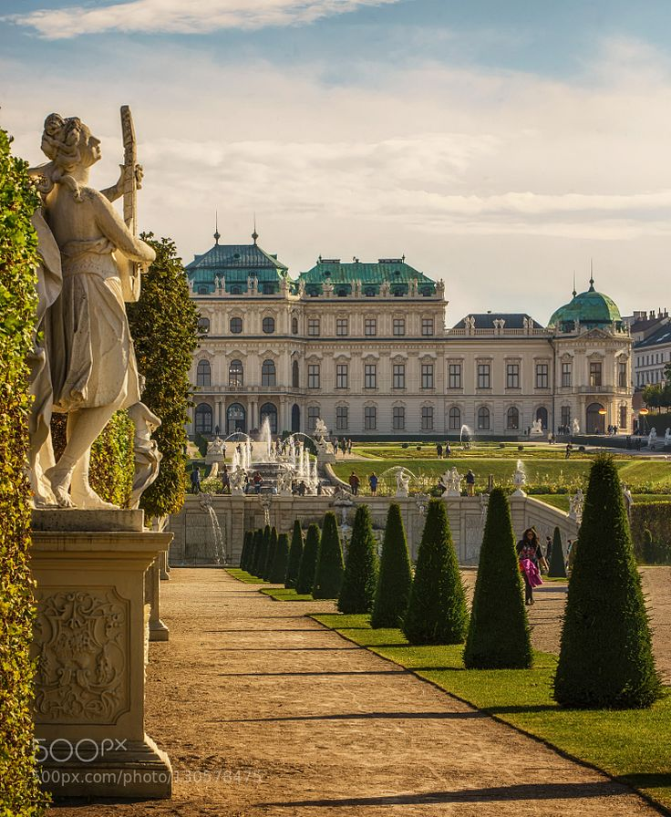 Vienna Belvedere And Music - Pinned by Mak Khalaf The Belvedere Palace in Vienna is built by Johann Lucas von Hildebrandt for Prince Eugene of Savoy. Prince Eugene was one of the most important generals of the Habsburg Empire. He earned his money in my opinion with wars. Travel AustriaBelvederePrinz EugenVienna by robschueller