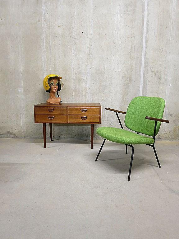 Industriële vintage stoel Kembo/Gispen chair