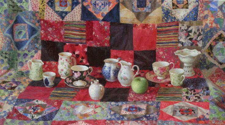 Петрова Елена Александровна (Россия, 1971) «Натюрморт с лоскутным одеялом» 2013