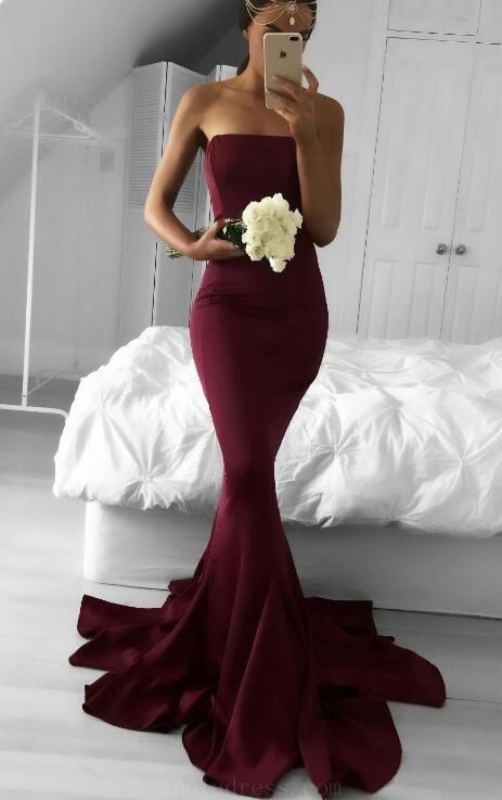 cfa193aff64 Outlet Light Mermaid Bridesmaid Dresses Gorgeous Strapless Burgundy ...