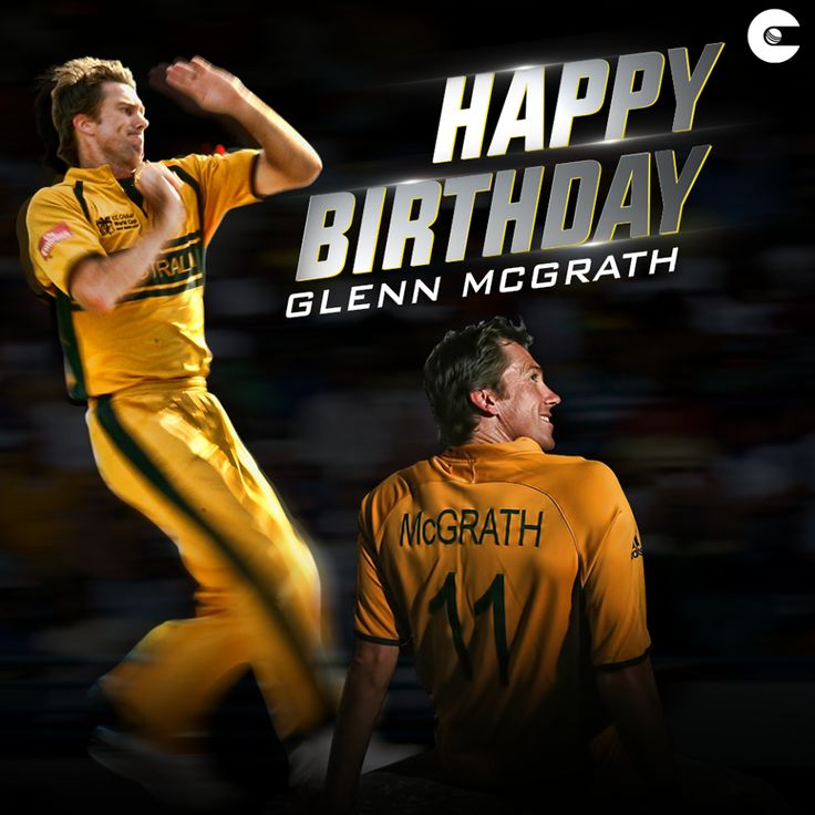 The most successful fast bowler in Test cricket and the greatest Australian fast bowler of his time.    Happy birthday, Glenn Mcgrath