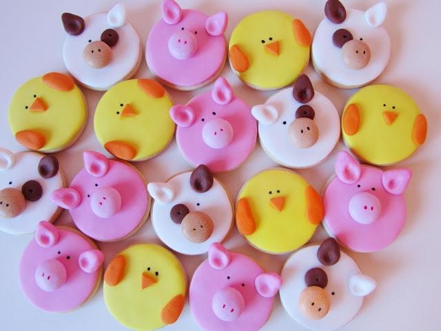 Postreadicción galletas decoradas, cupcakes y pops: Galletas decoradas: animales de la granja (fondant)