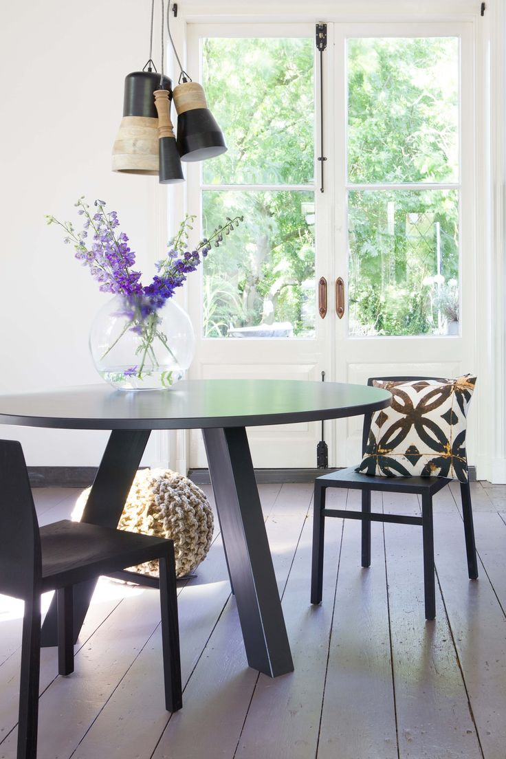 Circle dining table Off black- BePureHome. Round dinging table. Ronde eettafel. Table ronde de salle à manger. Runder Esstisch.
