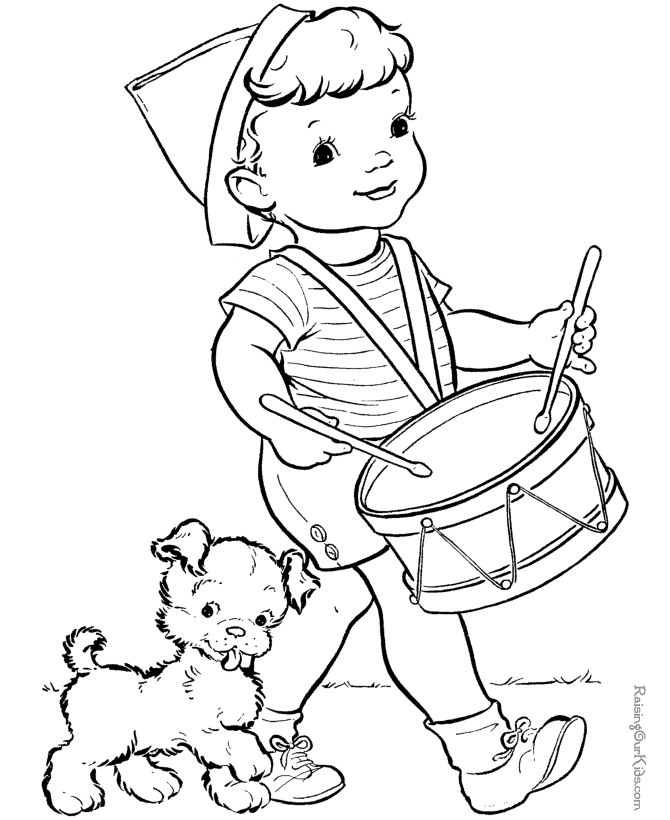 4th coloring pages free | Free coloring page to print