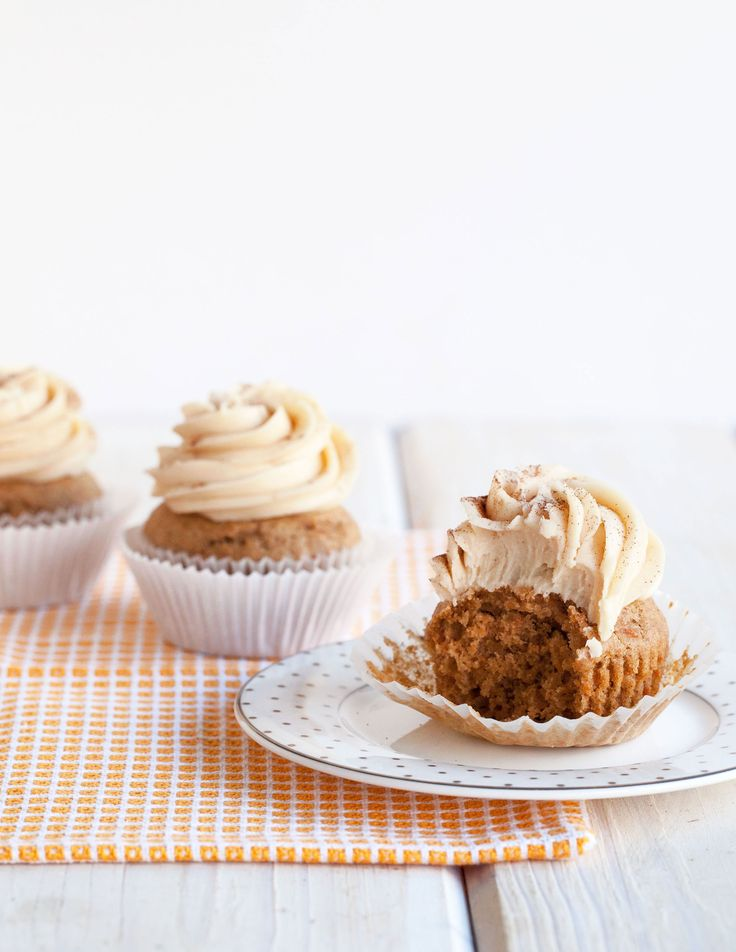 Chai Sweet Potato Cupcakes