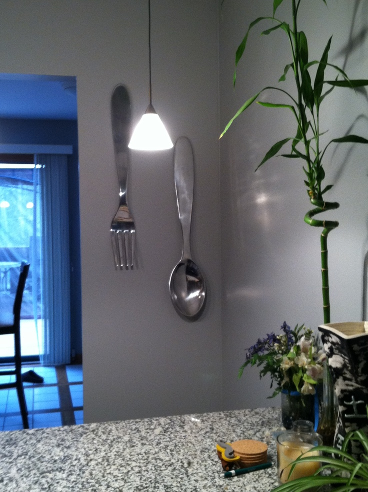 Giant Fork And Spoon For Kitchen Target 24 99 Love It Getting Creative Pinterest Forks Spoons
