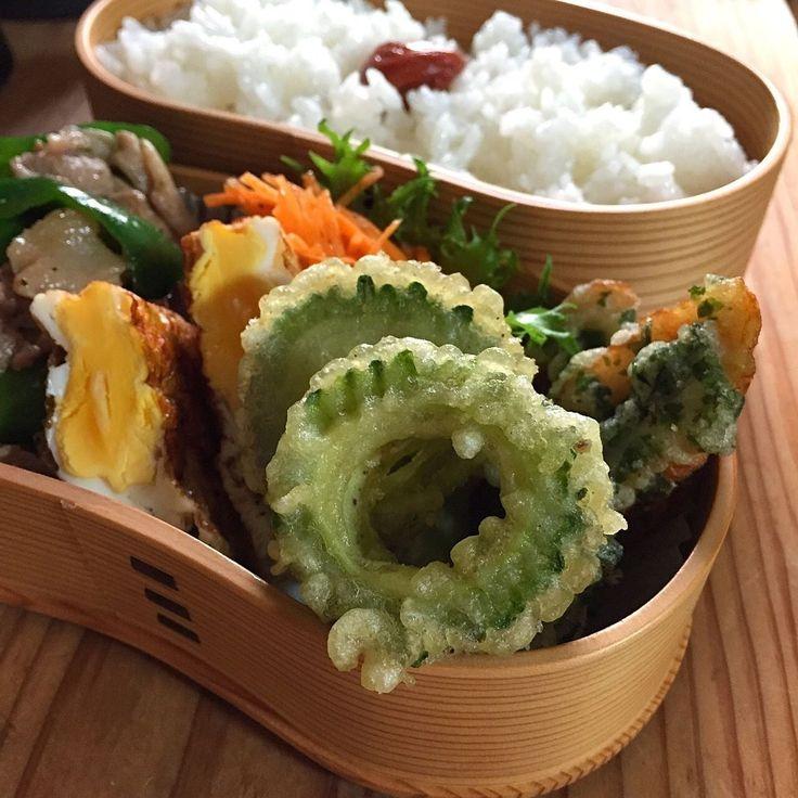 ayuayu45さんのお料理ゴーヤの天ぷら竹輪の磯辺揚げ豚肉ピーマン炒め目玉焼き人参サラダ #snapdish #foodstagram #instafood #food #homemade #cooking #japanesefood #料理 #手料理 #ごはん #おうちごはん #テーブルコーディネート #器 #お洒落 #ていねいな暮らし #暮らし #食卓 #フォトジェ #ゴーヤの天ぷら #ゴーヤ #天ぷら #お弁当 #おべんとう #ランチ #おひるごはん #lunch #オベンタグラム #オベンター #obento https://snapdish.co/d/KWuyKa
