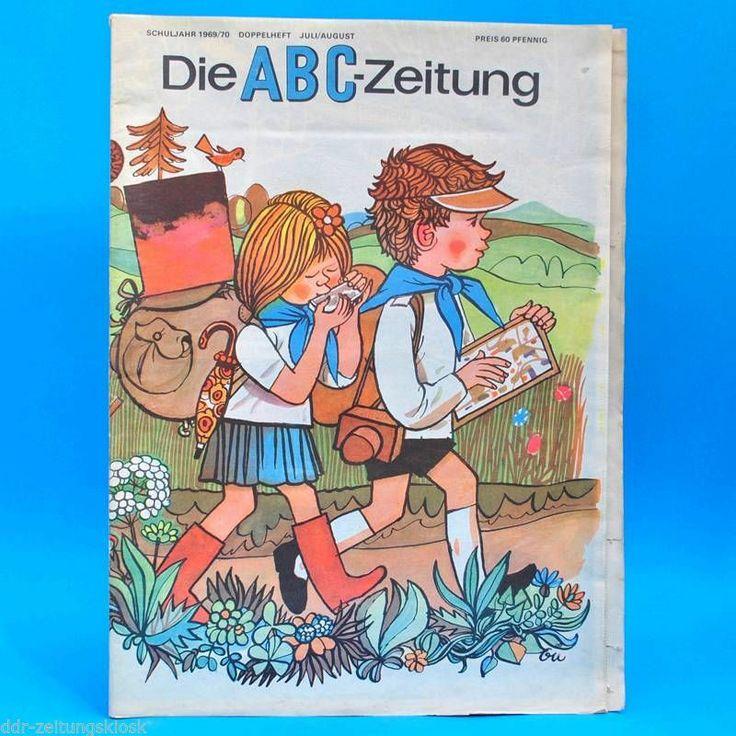 DDR ABC-Zeitung 7-8/1969 Zeitschrift für Junge Pioniere Schule + 2 Bastelbogen | eBay