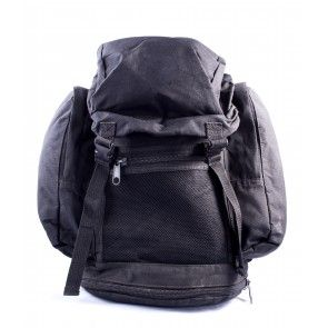 British Army Black Field Military Surplus Backpack - The British Army Black Field Pack is an authentic backpack issued to soldiers in the British Armed Forces. These rucksacks have been fielded by the British Army in every service branch and this pack has proven to be robust and well designed for combat conditions. With a 30L carrying capacity, comfortable adjustable shoulder straps, and multiple external pockets these black field packs would make a great every day carry bag.