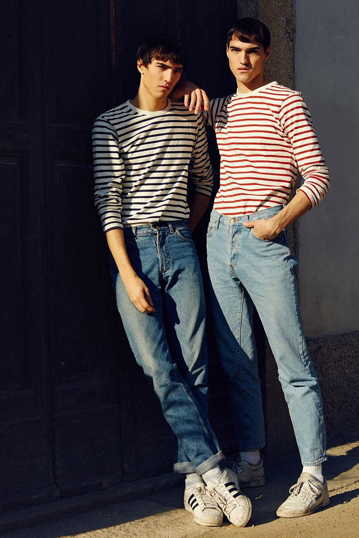 Twins Jaco and Nico Solis at AMCK Models London photographed by Maurice Sinclair and styled by Billie-Jean Harper, in exclusive for Fucking Young! Online.