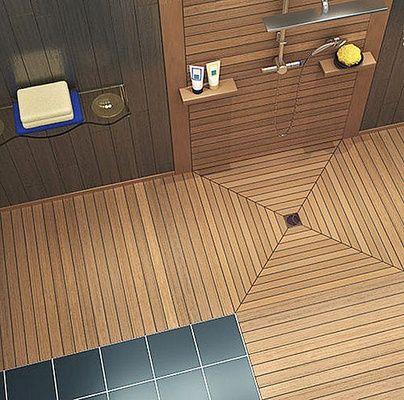 M s de 25 ideas incre bles sobre plato de ducha en for Ducha madera