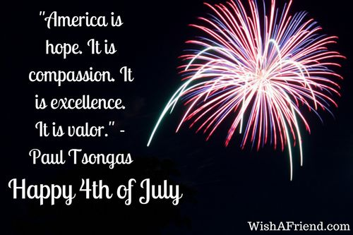 """""""America is hope. It is compassion. It is excellence. It is valor."""" - Paul Tsongas  We are celebrating the freedom of America and honoring the veterans for preserving it. 4thofJuly2017"""