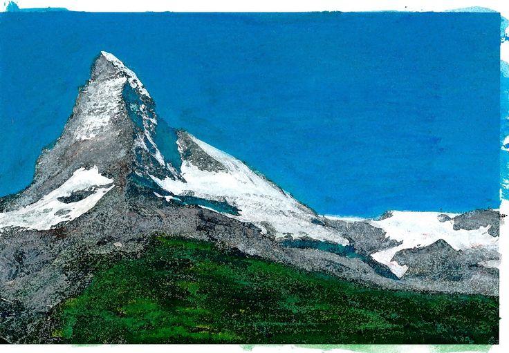 Matterhorn 2. Ad van den Boom. Gemengde technieken
