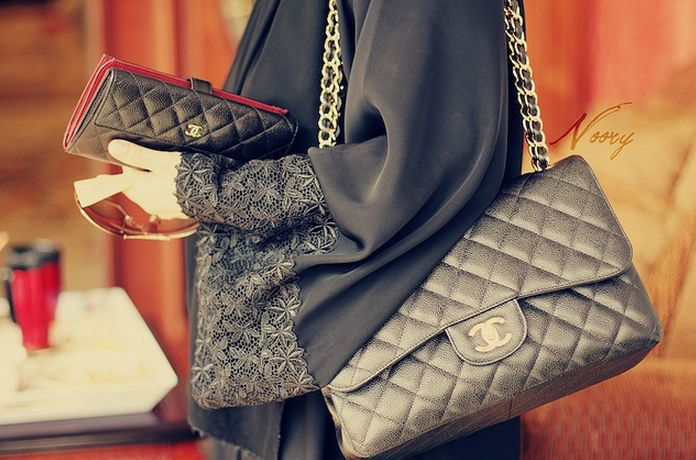 Abaya and chanel!