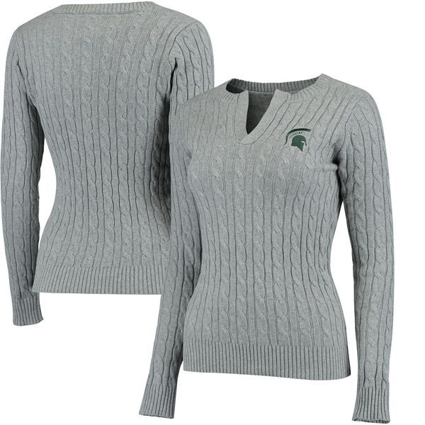 Michigan State Spartans Colosseum Women's Alma Mater Cable Sweater - Gray - $67.99