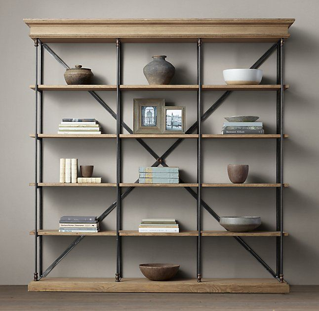 Regal Industrial Style Parisian Cornice Triple Shelving In 2019 | Bookcase