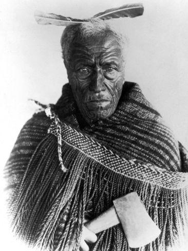 Portrait of Maori Chief Premium Photographic Print at Art.com