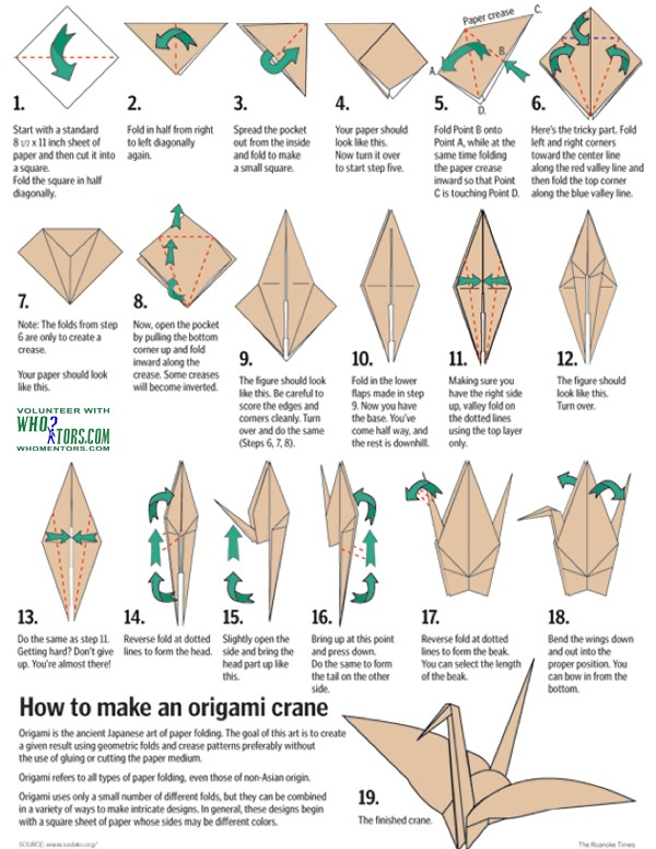 how to: Paper Crane. (origami) For wedding purposes...