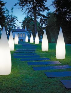 These simple lights are a great addition to any garden and really make the house look inviting.