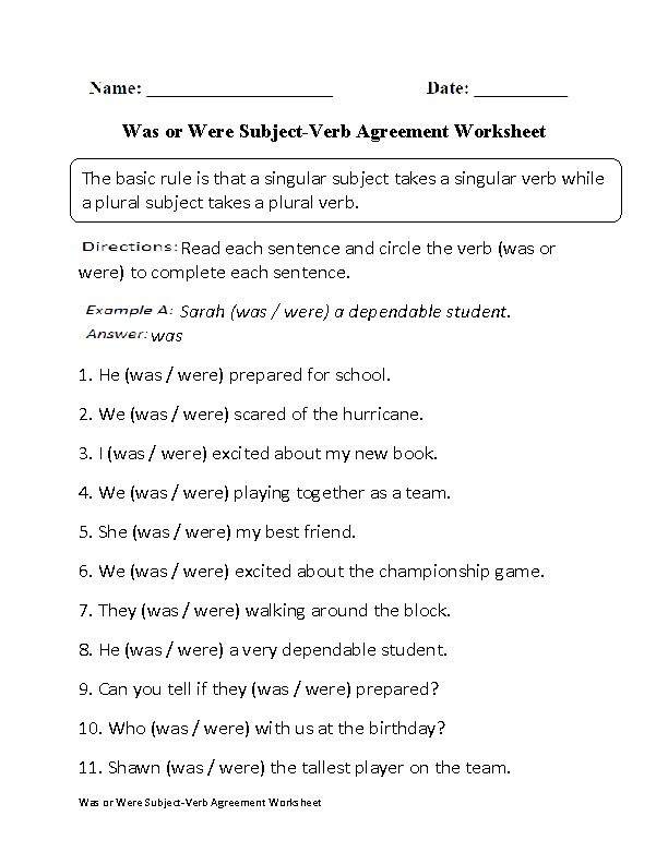 was or were subject verb agreement worksheet board subject verb agreement. Black Bedroom Furniture Sets. Home Design Ideas