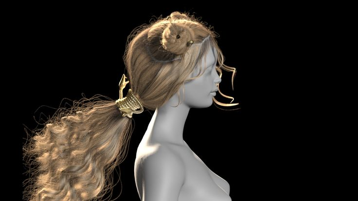 ArtStation - hair, CG faun Dryulya