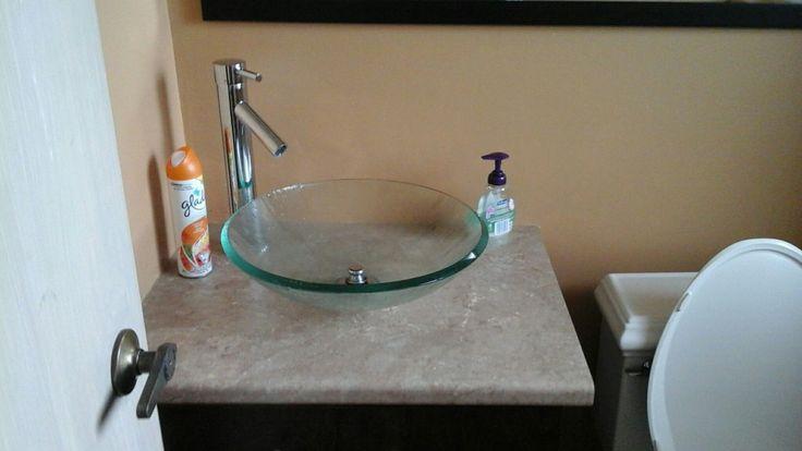 Powder room sink