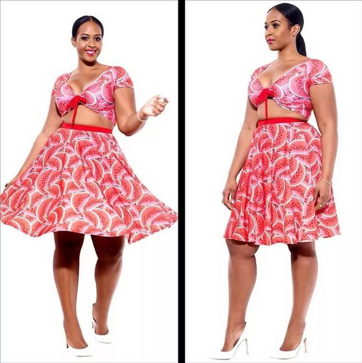 2015 New Sexy Two Piece Dress Women Summer Printed Short Sleeve Bodycon Dress Watermelon Cute Bandage Pleated Dress Plus Size