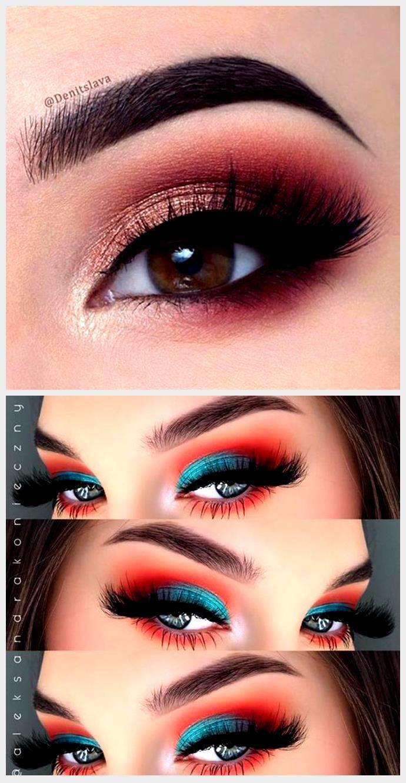 Sombra De Ojos Roja 8 Opciones De Maquillaje Para Navidad Sombra De Ojos Roja Maquillaje Para Navidad Diseños De Maquillaje De Ojos