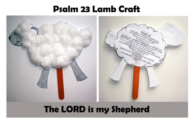 The Lord is my Shepard kids crafts