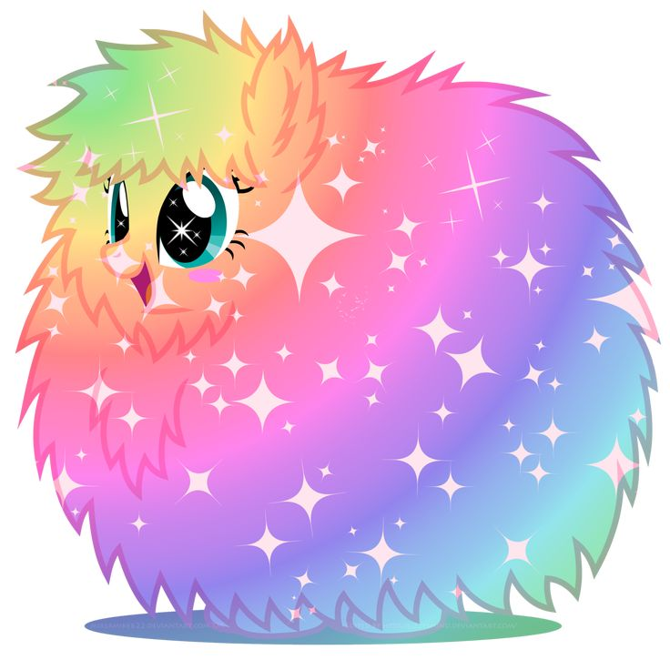 Rainbow power Fluffle Puff by LizzysMind