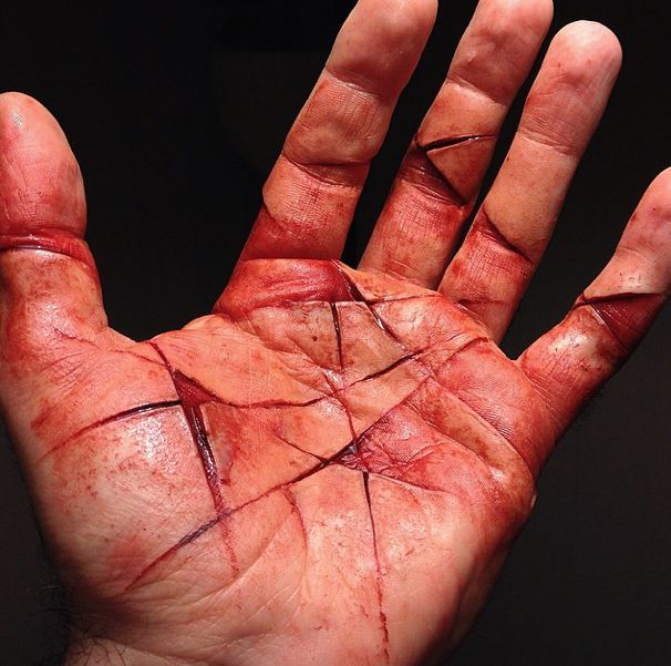 She had cut her hand deep enough to scar, hoping the mutilation would stop them from taking her. It worked.