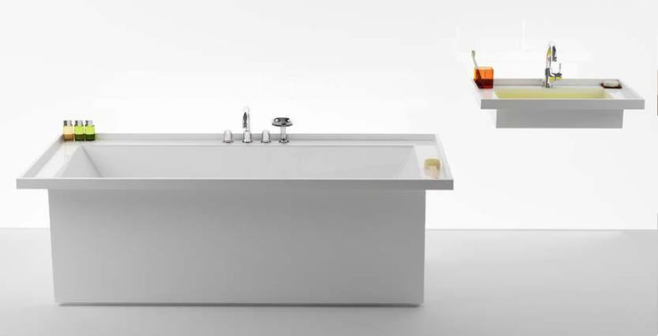 """It´s about symbiosis between single element sof the collection. I aimed to bring a kind of sensation that every object has its place. You don´t buy just a washbasin which must be equipped with a complements. You buy a set, which won´t be interfered"", says author, Krystof Nosal."