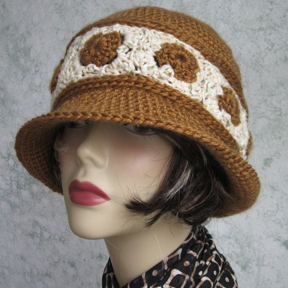 Womens Crochet Hat Pattern Brimmed Summer Hat With Contrasting Band PDF Instant Download