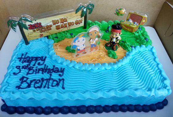 jake and the neverland pirates sheet cake - Google Search