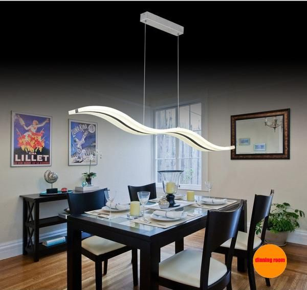 Dimmable Modern LED Chandeliers For Dinning Room Bedroom Studyroom With Remote Controler