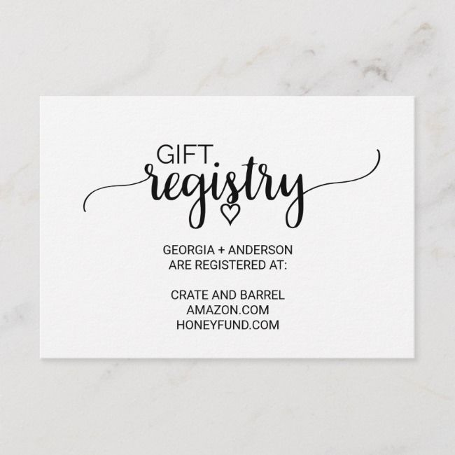 Create Your Own Enclosure Card Zazzle Com Gift Registry Enclosure Cards Registry Cards