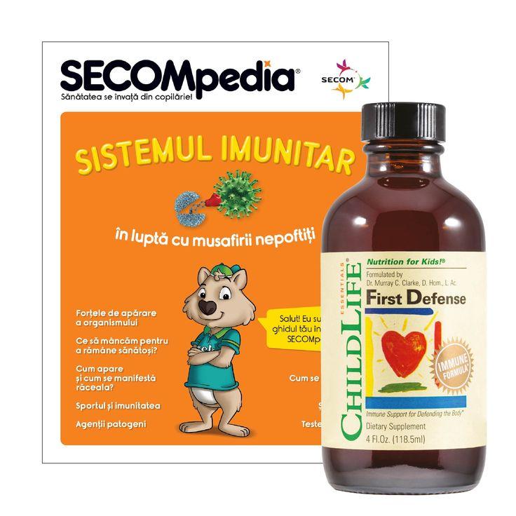 First Defense ChildLife Compozitie unica pe baza de argint coloidal - considerat un sistem imunitar secundar.