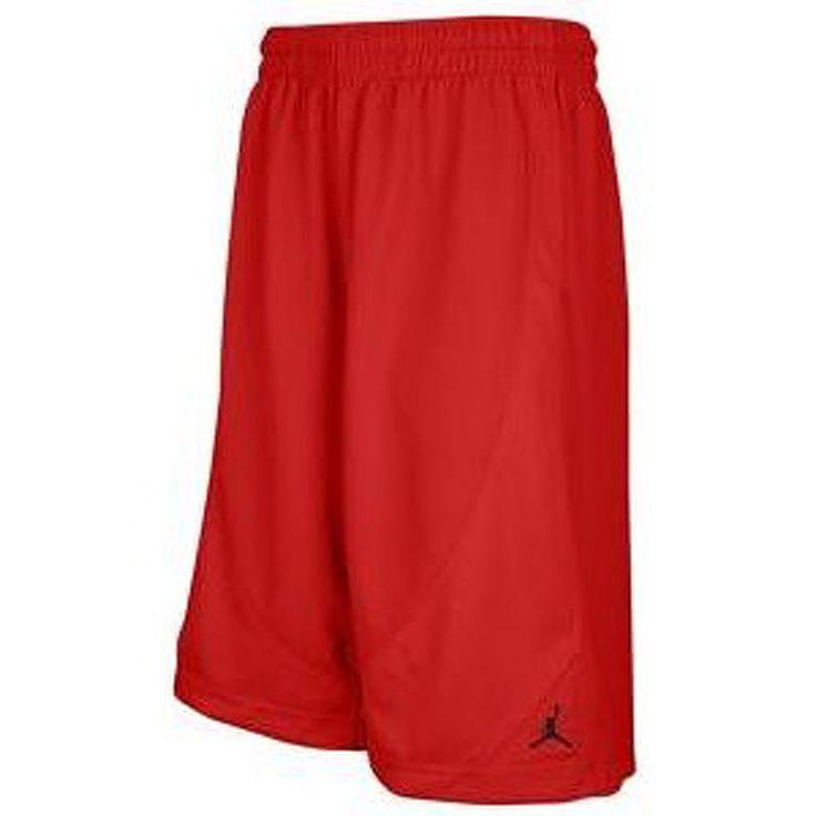 Air Jordan Nike Jumpman Revolution Mens Basketball Shorts Red #487856-695