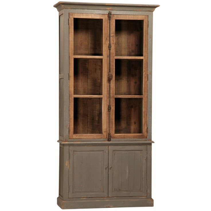 Toulouse Reclaimed Pine Cabinet Distressed Grey Finish